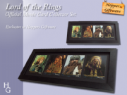 Lord Of The Rings, Cast Signed & Framed Authentic Movie Card Collector Set